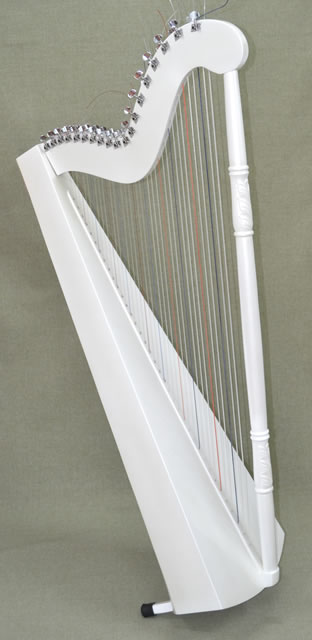 Gustavo Arias APYH- 21 B Student Harp (Pearloid White finish)